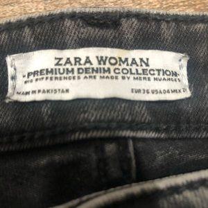 Zara Jeans - Zara | gray black distressed jeans
